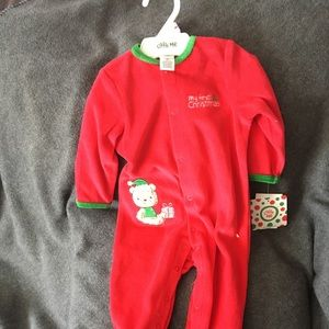 Little Me NWT My First Christmas Outfit Size 9 mos